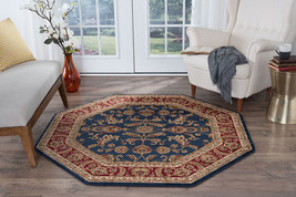 Octagon Traditional Oriental Persian Blue Red Area Rug **FREE SHIPPING** - €86,31 EUR