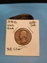 1934- D Washington Quarter Better Date 90% Silver!!! LOOK!!!  - $6.93