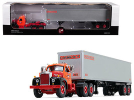 "MACK B-61 DAY CAB W/ 40' VINTAGE TRAILER ""MUSHROOM"" 1/64 BY FIRST GEAR 6... - $74.95"