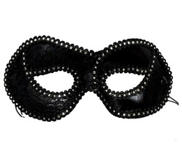 Black Silver Lace Cat Eye Mask Halloween Costume Party Masquerade One Size - $7.10