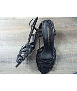 Adianna Papell strappy dress shoe, 8 m Jennie black lizzy metal new - $25.97