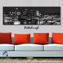 Single panel Art Canvas Print City Skyline Pitt... - $54.99 - $94.99