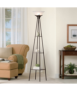 "Mainstays 69"" Charcoal Metal Etagere Shelf Floor Lamp - $99.00"