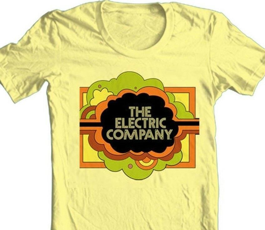 The Electric Company T-shirt vintage 70' tv show 100% cotton graphic yellow tee