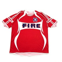 CHICAGO FIRE Soccer Jersey HONDA MTX Embroidered Badge Adult Extra Large XL - $27.33