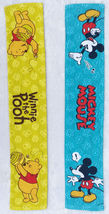 Mickey Mouse & Winnie The Pooh 18 X 94 Cm Blue & Yellow Color 2 Long Sport Towel - $15.00