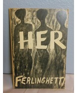 "Vintage Ferlingetti Book Soft Cover ""Her"" 1960 Tenth Printing - $23.40"