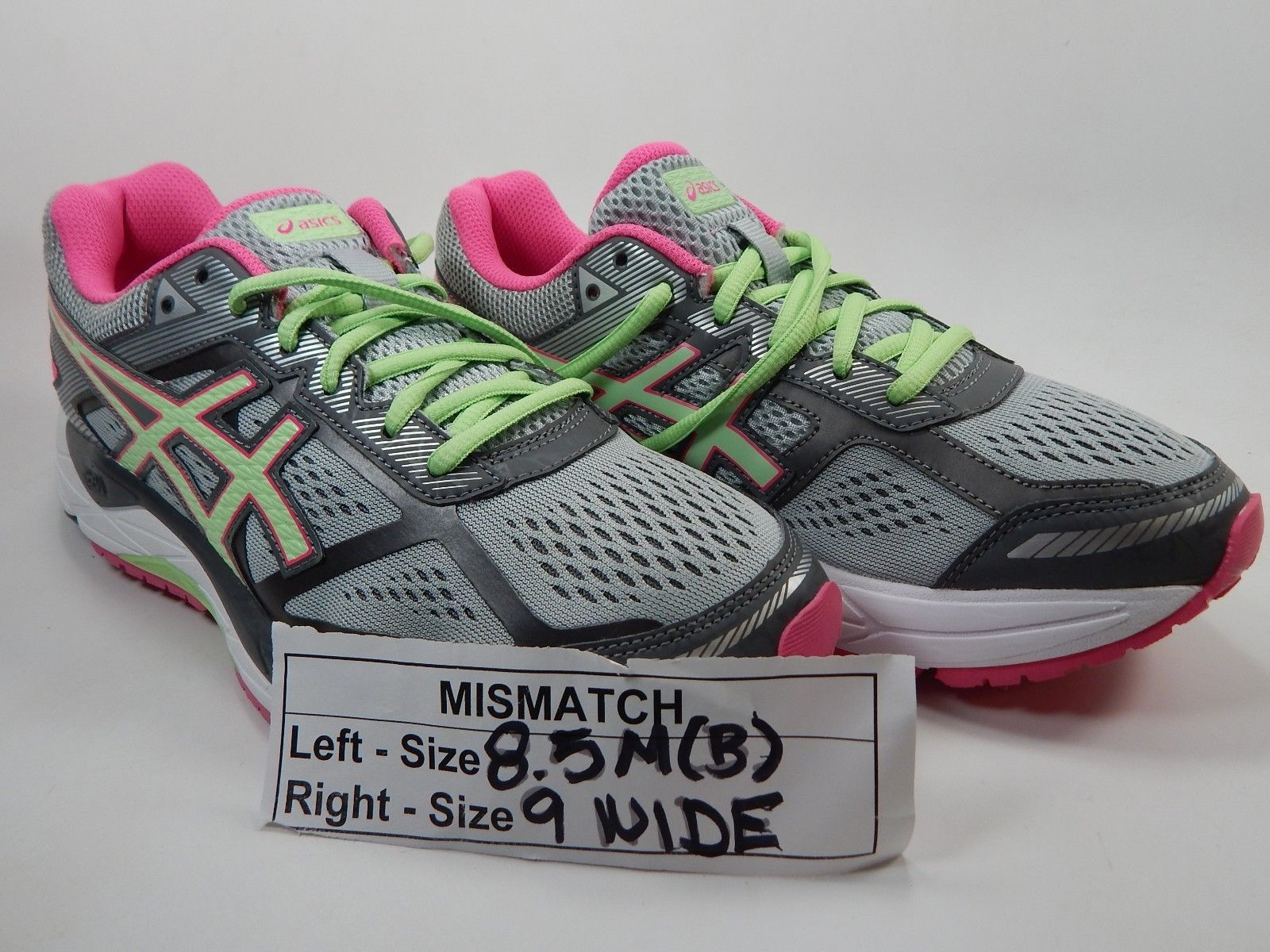 MISMATCH Asics Gel Foundation 12 Sz 8.5 M B Left & 9 D WIDE Right Women's Shoes