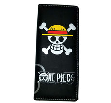 One Piece 10th Anniversary Monkey D. Luffy Black Anime Wallet - $5.00