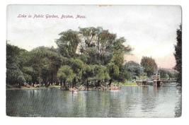 MA Boston Boating on Lake in Public Garden Vintage 1910s Postcard - $4.99