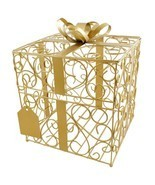 Gold Gift Card Holder Wedding Card Box Reception Money Gift Card Box - $66.57 CAD