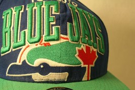 Toronto Bluejays MLB BIG logo snapback New Era blue green Dad Trucker Cap Hat - $99.95