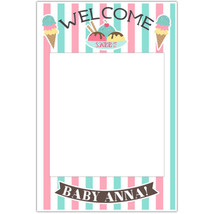 Sweet Welcome Baby Shower Selfie Frame Social Media Photo Prop Poster - $16.34+