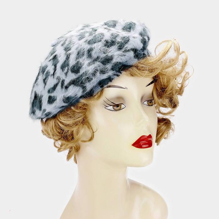 408c7095d9cf7 New Wool leopard print Beret Hat Womens and 50 similar items