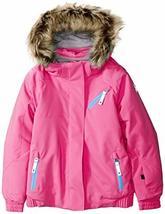 Spyder Girls' Bitsy Lola Ski Jacket, Taffy Pink/Blue Ice, Size 4