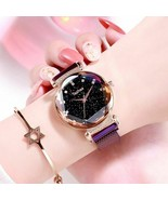 Fashion Women Starry Sky Waterproof Watches Luxury Luminous Leather Wris... - $9.99