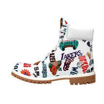 Timberland 6 Inch Premium Waterproof Boot x Mitchell and Ness (White/ NBA Logos) - $294.99
