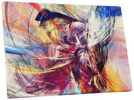 """Pingo World 0720QYBB9V4 """"Conglomeration of Colors Abstract"""" Gallery Wrap... - $42.52"""