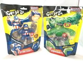 Heroes of Goo Jit Zu Marvel Hulk And Capt America Action Figure Squishy ... - $49.38