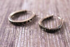 Sterling Silver Marcasite Hoop Earrings - $29.70