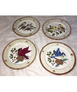 4 SONOMA Holiday KNOLLWOOD Salad Dessert PLATES Different Bird Each Plat... - $34.99