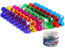 56 Colorful Push Pin Magnets | 7 Assorted Color Strong Magnetic Push Pin... - $14.62