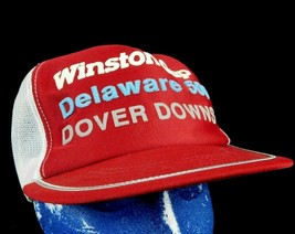 Winston Cup Delaware 500 Dover Downs Red Trucker Baseball Cap Hat Box Sh... - $26.99