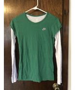 Nike Sportswear Green and White Top - Girls XL (16) - $8.00