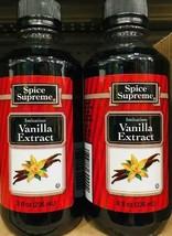 2 Bottles Spice Supreme Imitation Vanilla Extract 8oz ~ FAST FREE SHIPPI... - $10.77