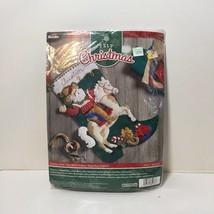 "Cowboy Santa Felt Christmas Stocking Kit Bucilla 18"" - $38.69"