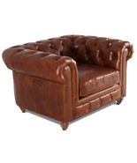 MarquessLife Antique Aged Leather Tufted 100% Genuine Couch Luxury Singl... - $1,880.12