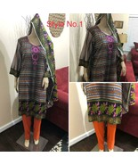 Pakistani Printed Straight Shirt Lawn Suit with Lawn Dupata, different o... - $40.00