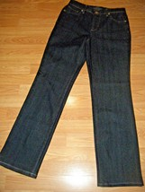 STYLE & CO STRETCH DK DENIM STRAIGHT LEG JEANS SIZE 6 - $17.41