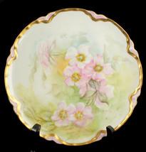 Antique Haviland Limoges Hand Painted Cabinet Plate Signed H.G. Eldridge - $143.99