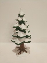 Dept 56 Snow Village Accessory 1992 Village Porcelain Pine Small 52191 R... - $9.89