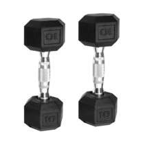 NEW CAP 10lb Rubber Coated Hex Dumbbell Set, 20lbs Total, Hand Weights - $47.99