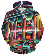 Glowing City All over printed Hoodie - $74.97