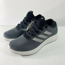 NEW! Adidas Edge Flex Women's Sneakers Black Dark Grey Shoes Sz 6.5 G28208 - $50.49