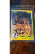1983 84 84 Stella Azienda Autografato Scheda Lafayette Grasso Leva Trail... - $19.97