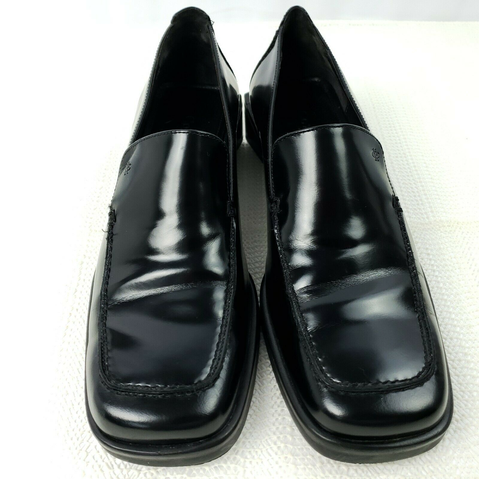 Primary image for Cole Haan Womens Loafers 6.5 B Black Patent Leather Shoes D11180 Made in Brazil