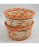 Temp-tations by Tara 2 Old World Orange Spice Ramekin Bowls 6 oz PPP-SQ-... - $8.79