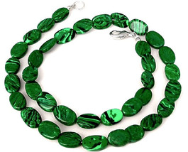 Natural Malachite Beaded Necklace - $60.00