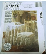 McCall's 7438 Table Skirts, Seat and Back Chair Covers Pattern New - $11.87