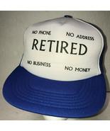 Retired Mens Hat Snapback Trucker Baseball Cap Mesh Foam No Phone Busine... - £15.72 GBP