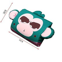 PANDA SUPERSTORE Cartoon Monkey Breathable Lumbar Support/Back Cushion Memory Fo