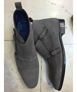 Mens Decent Double Monk Strap Chukka Formal Wear Handmade Boot - $165.73+