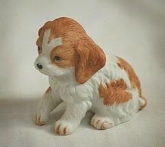 Old Vintage Homco 8828 Mini Cocker Spaniel Puppy Figurine Curio Shadow B... - $9.89