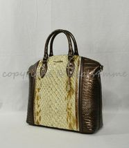 NWT Brahmin Large Duxbury Satchel/Shoulder Bag in Honey Carlisle image 3