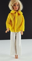 Barbie Clone White Knit Bell Bottoms & Yellow Knit Jacket 1960s Clothing - $14.84