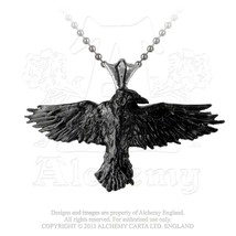 Black Raven Pendant by Alchemy Gothic - $24.70